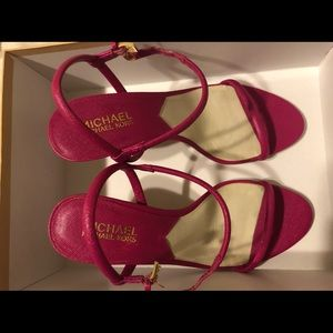 MICHAEL by Michael Kors Raspberry Carlene Heels